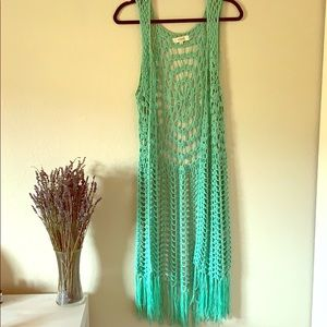 Turquoise Knit Vest from The Buckle - Size M